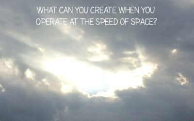 The speed of space